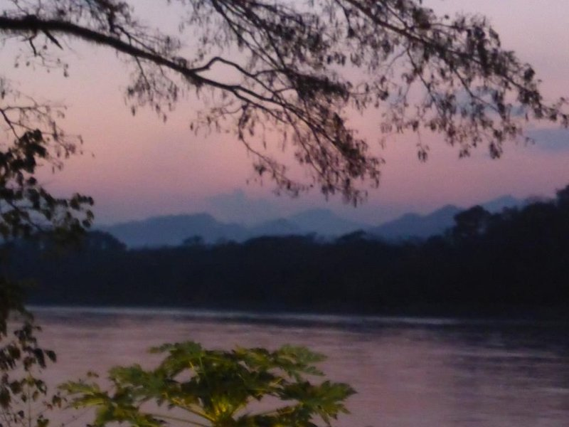 The Mekong river after sunset