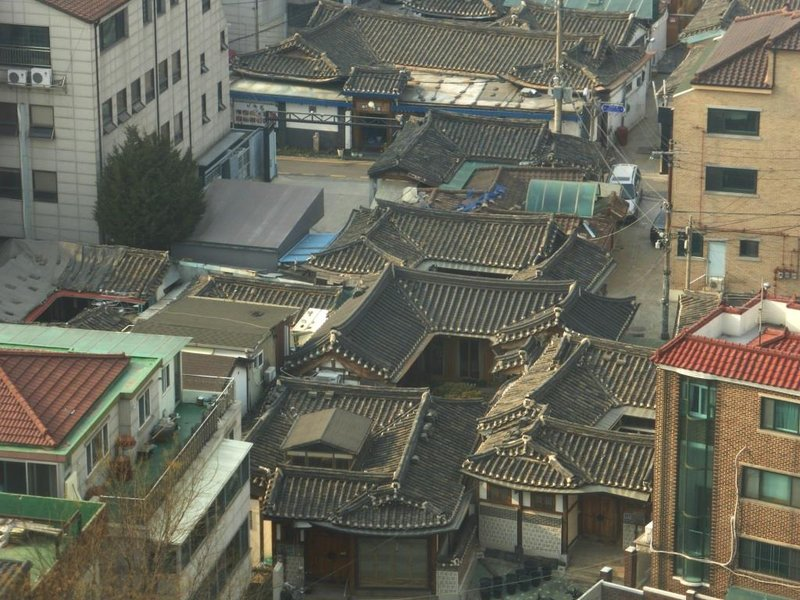 last traditional houses in the centre of Seoul