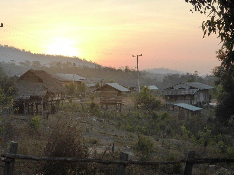the village at dawn