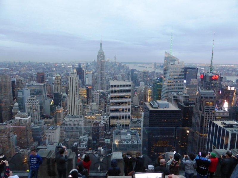Top of the Rock: downtown manhattan