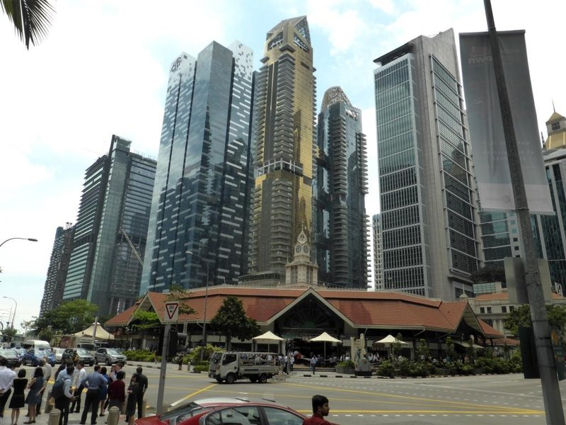 Lau Pa Sat, backed by the CBD