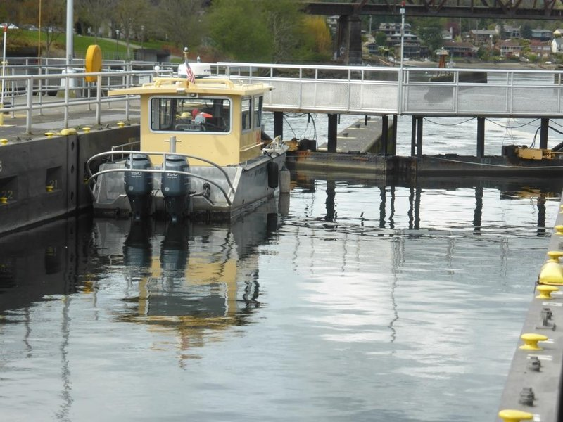 boat at lake level