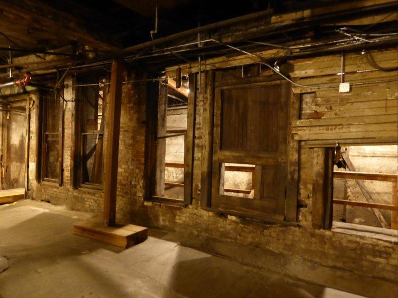 former ground floor now basement