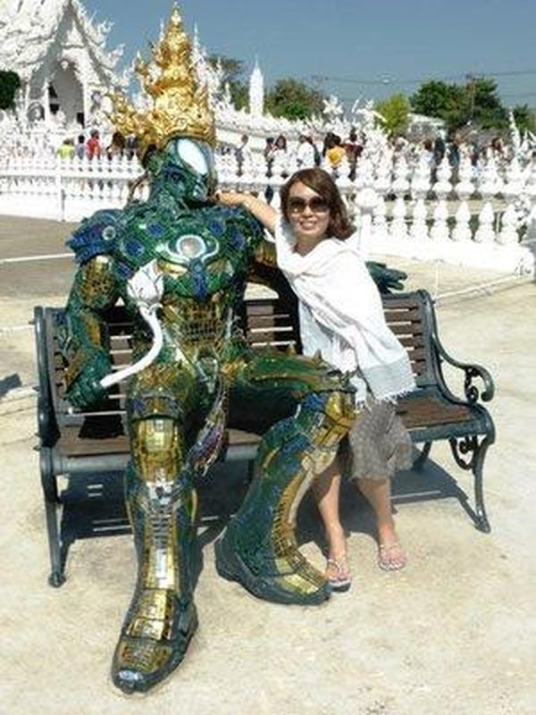 shin with a  green monster from the white temple