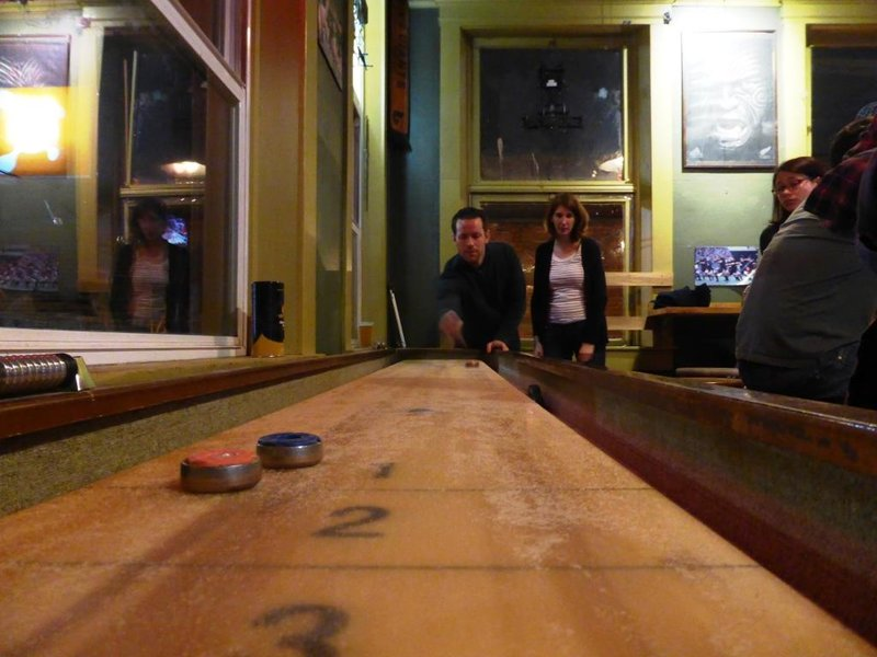 induction to shuffleboard