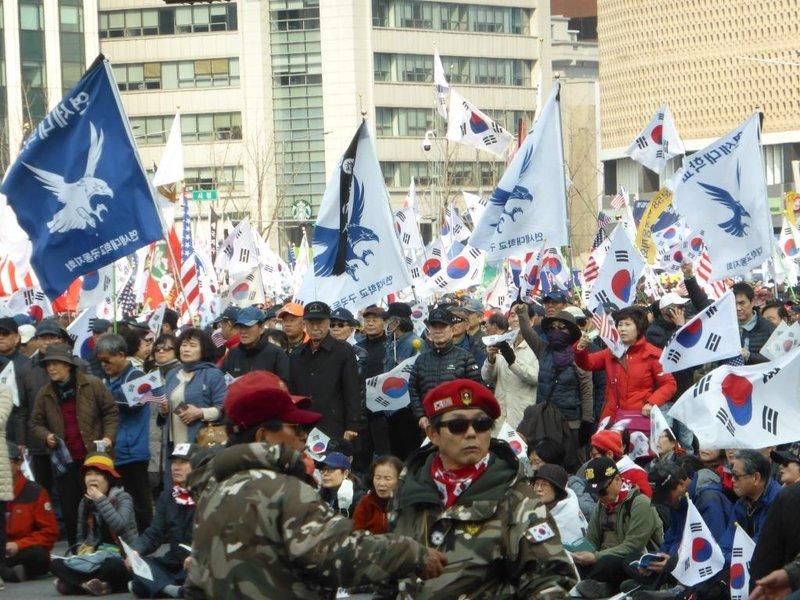 the leaders in paramilitary attire