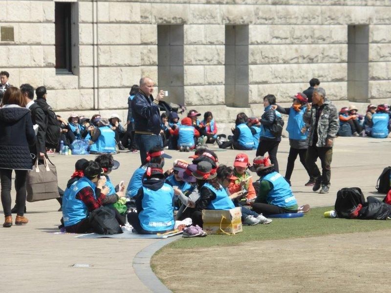 unions in a sit-in