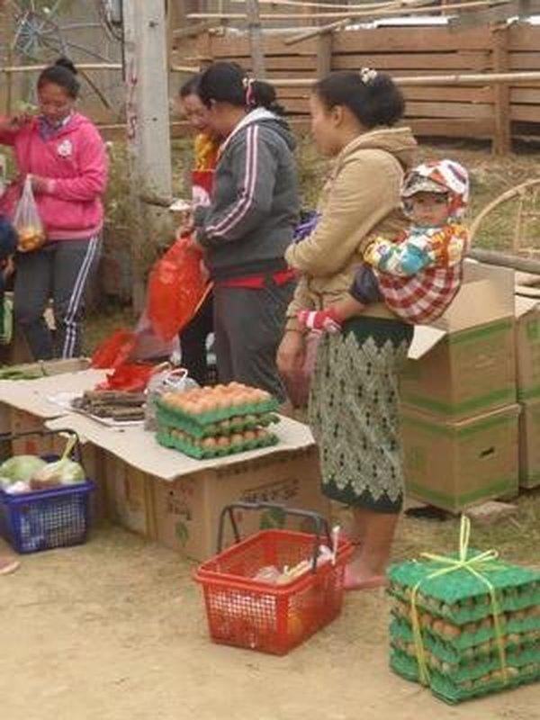 market at Muong Ngoy