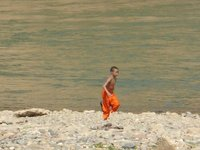 young monk levitating