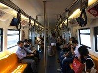 empty train (a rare sight)