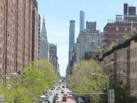 The High Line: view on the street below