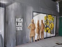 The High Line: signboard at street level