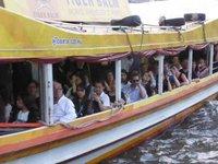 passengers of the river boat shuttles