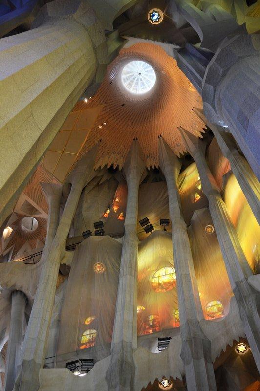 Sagrada Familia inside: The dome