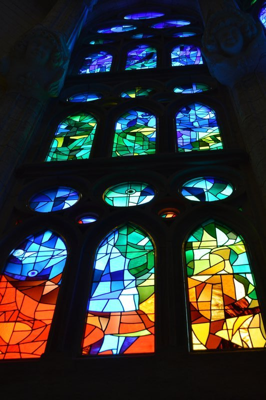 Sagrada Familia inside: Stained glass