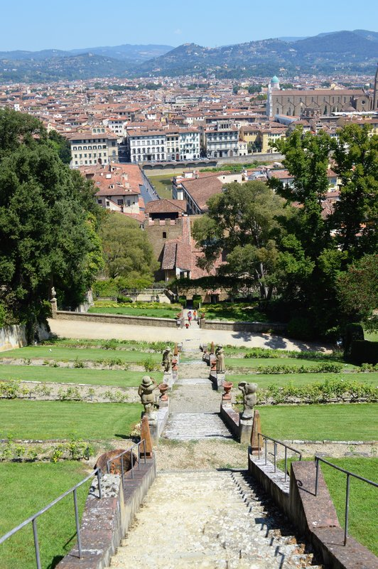 Giardino Bardini: Stairs from above