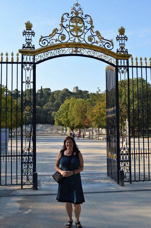 Gate to Les Jardin de la Fontaine