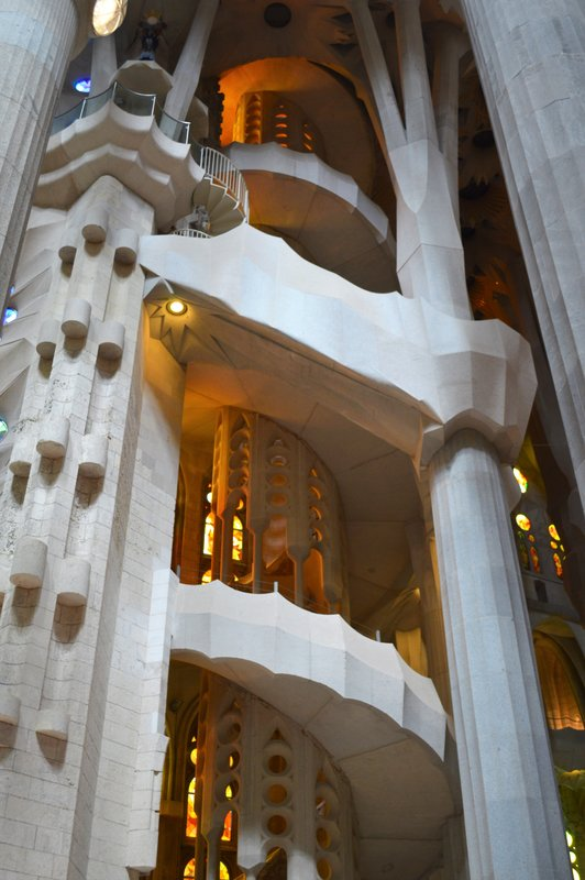 Sagrada Familia inside: stairway to heaven