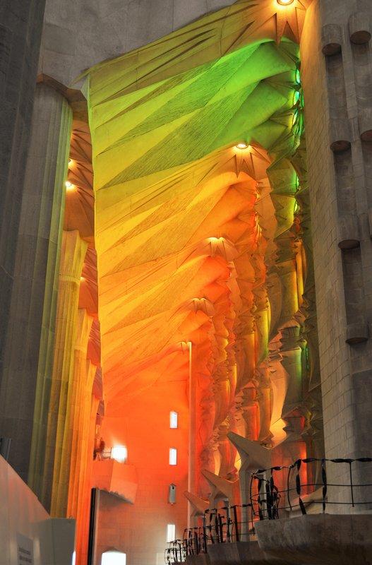 Sagrada Familia inside: bathed in light