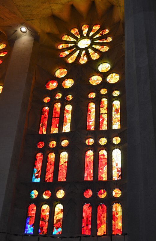 Sagrada Familia inside: window