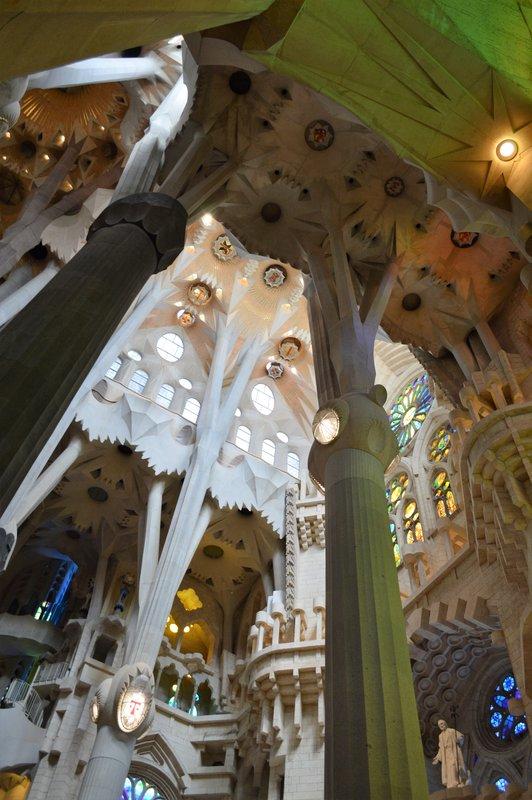 Sagrada Familia inside: The nave