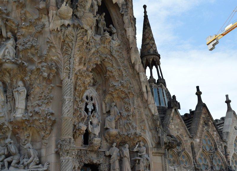 Looking across the Nativity facade