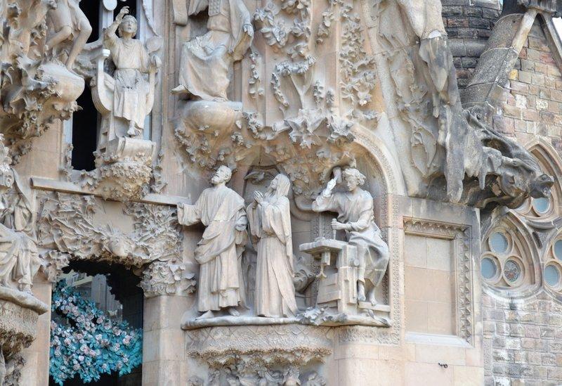 Nativity facade Sagrada Familia