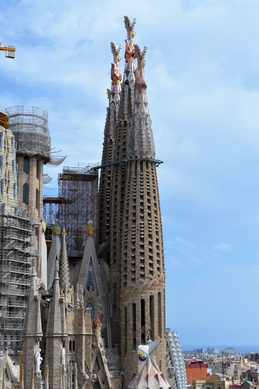 Spire on the Passion facade
