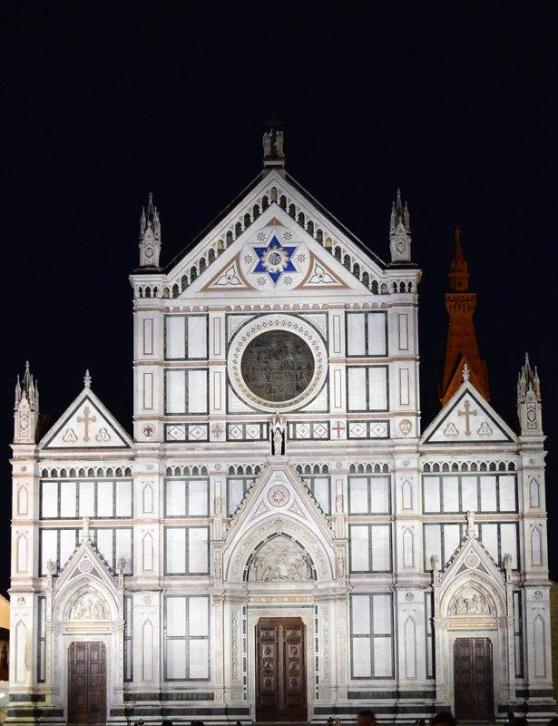 Santa Croce at nigh