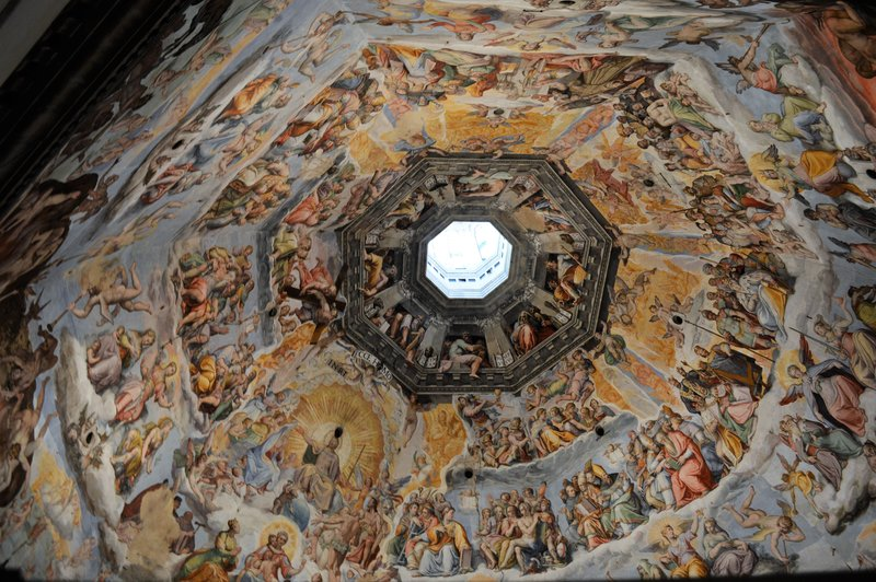 The ceiling of the Duomo