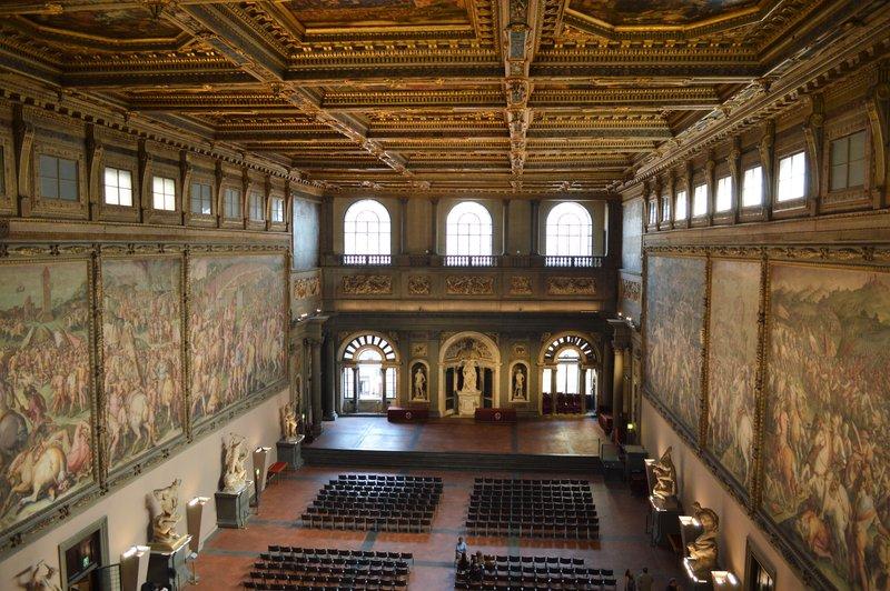 Salone dei Cinquecento from above