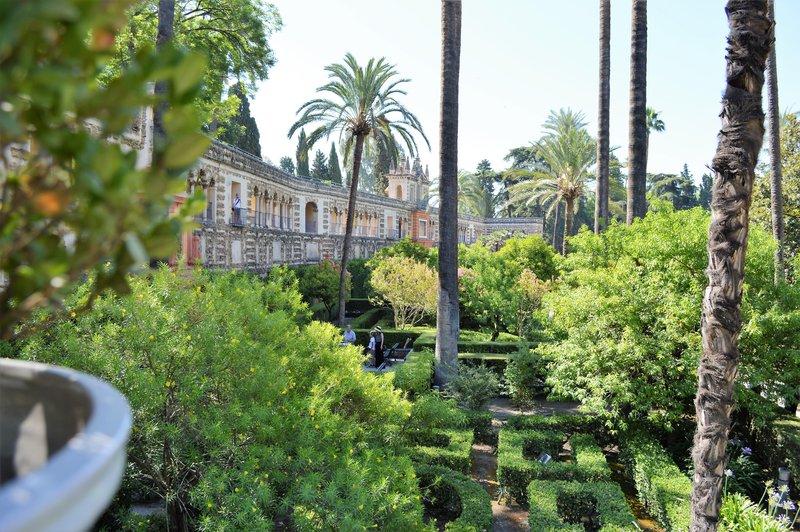 Alkazar garden in Seville