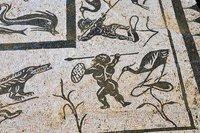 Detail of Roman tile floor