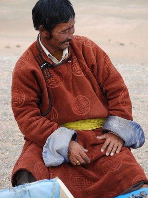 Gobi - Man at Flaming Cliffs