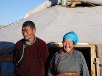 Gobi - Nomad family (close)