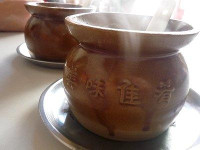 gőzölgő leves
