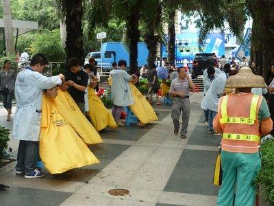 ösznépi borbélykodás Baishizhouban