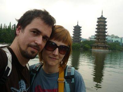 a két pagoda Guilinbe