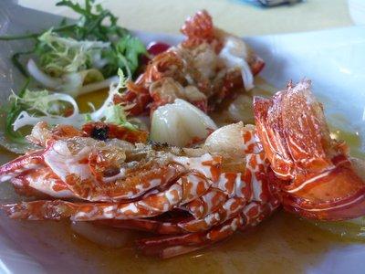 de itt mán hamm bekapta. életem legfinomabb tengeri herkenytyűit ettem itt. ez éppen vajas-hagymás homár