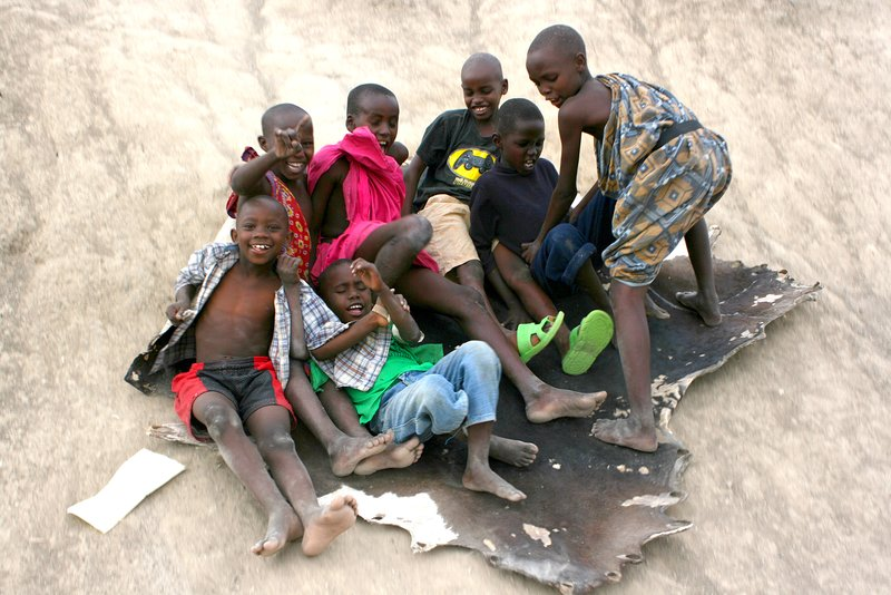 Masai kids at play