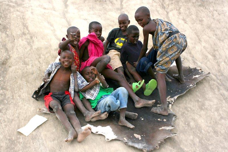 Massai kids at play