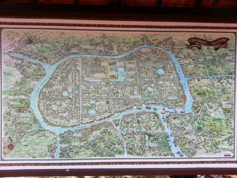 Map of ancient Ayutthaya