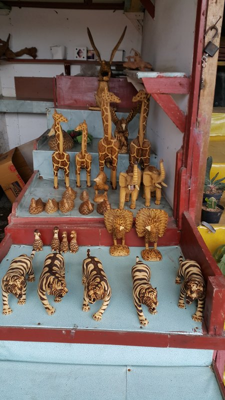 Carved animals