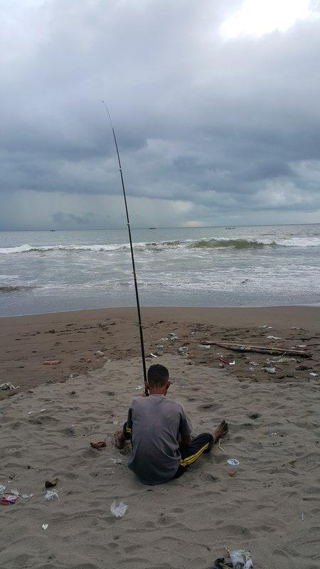 Fishing on land