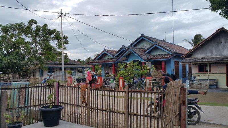 Houses on Sebesi island