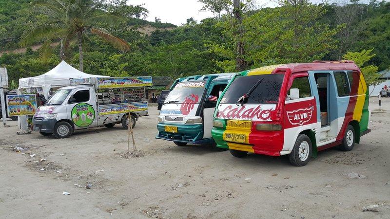 Colourful vans