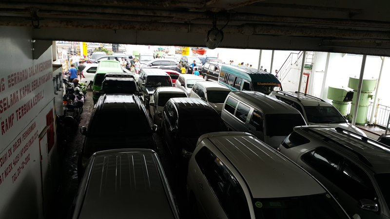 Cars in the ferry