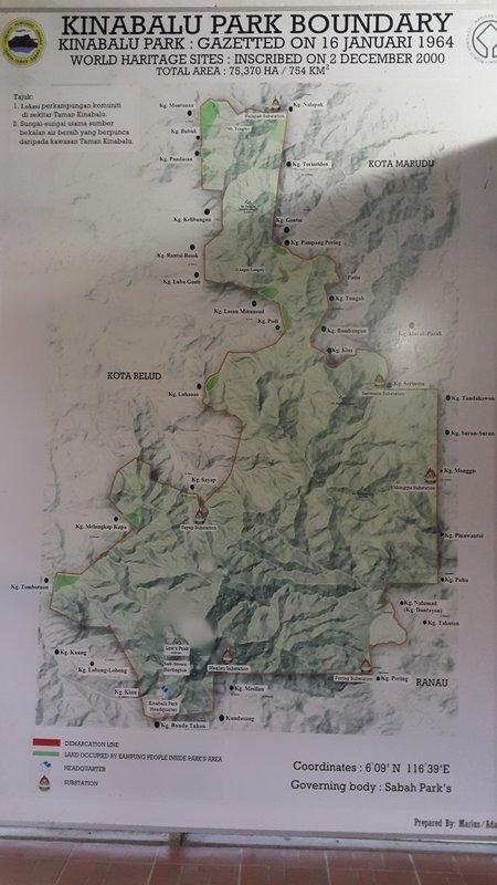 Kinabalu park map