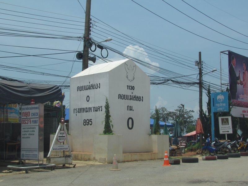 Mae Salong 0km milestone