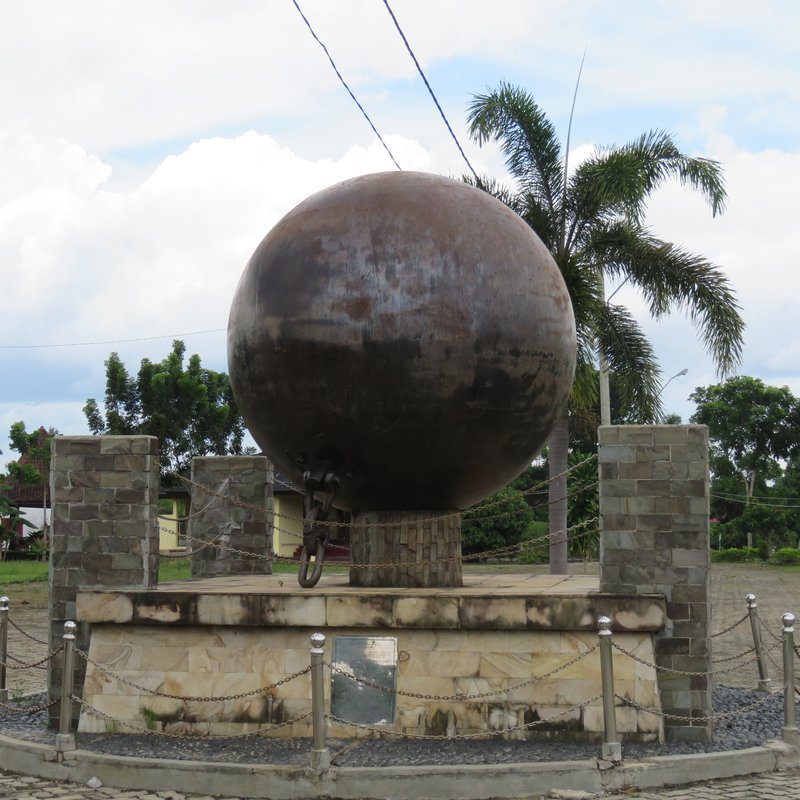 Giant ball used for learning land in the past